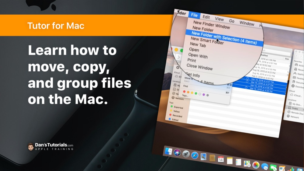 Copying, Moving, and Grouping Files on the Mac