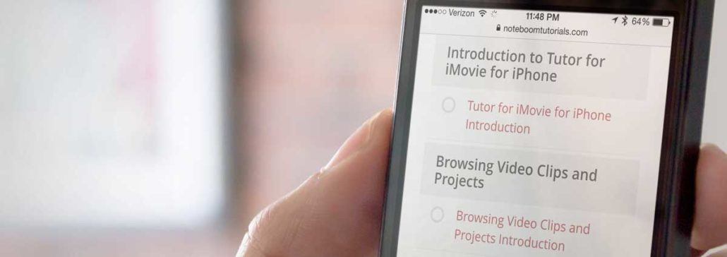 Tutor for iMovie for the iPhone