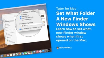 Set What Folder A New Finder Windows Shows on the Mac