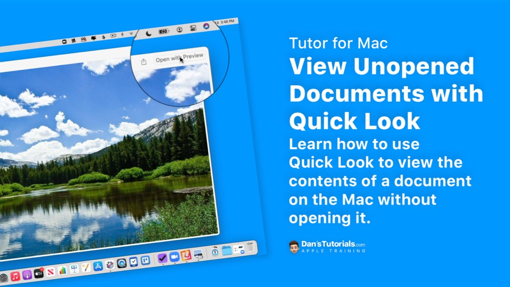 View Unopened Documents with Quick Look on the Mac