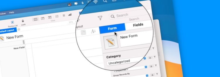 Creating New Forms in Tap Forms 5 on the Mac