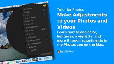 Make Adjustments to your Photos and Videos with Photos on the Mac.