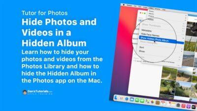 Hide Photos and Videos in a Hidden Album in the Photos app on the Mac