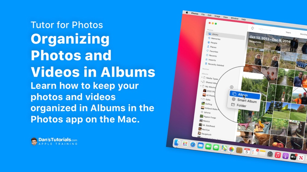 Organizing Photos and Videos in Albums in the Photos app on the Mac