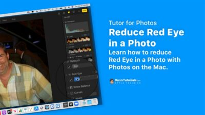Reduce Red Eye in a Photo in the Photos app on the Mac