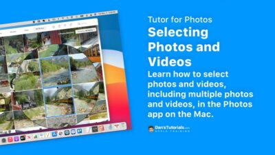 Selecting Photos and Videos in the Photos app on the Mac