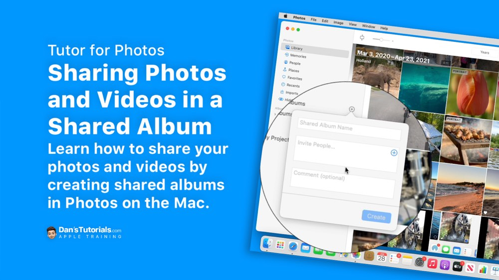 Sharing Photos and Videos with Shared Albums in Photos on the Mac