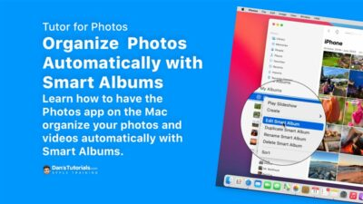 Organizing Photos Automatically with Smart Albums in Photos on the Mac
