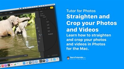 Straighten and Crop your Photos and Videos with Photos on the Mac