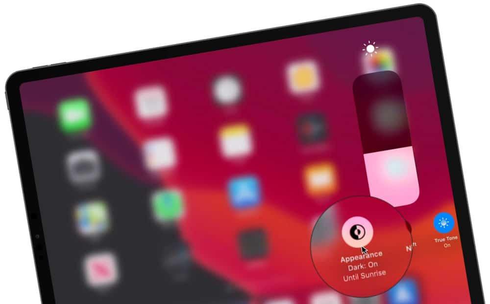 Dark Mode on the iPad