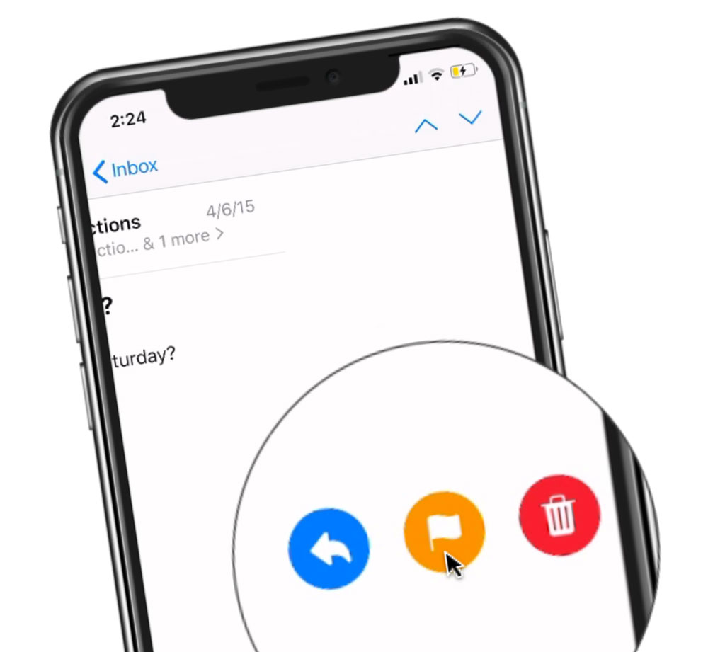 Swipe Gestures in Mail on the iPhone