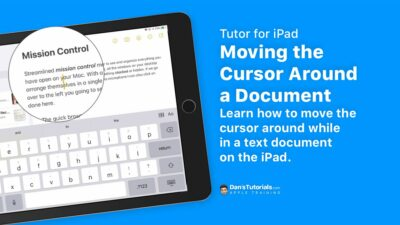 Learn how to move the cursor around while in a text document on the iPad.