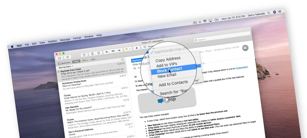 What's New in Mail in macOS Catalina