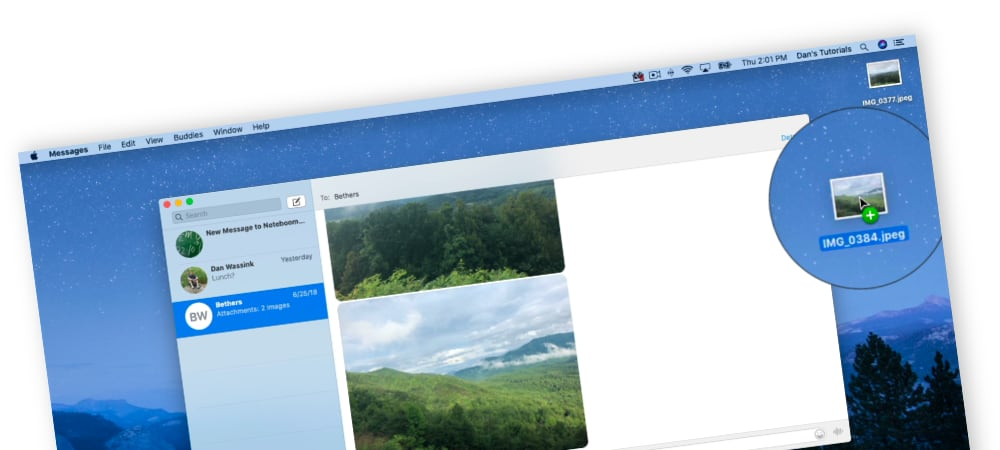 Working with Attachments in a Message on the Mac