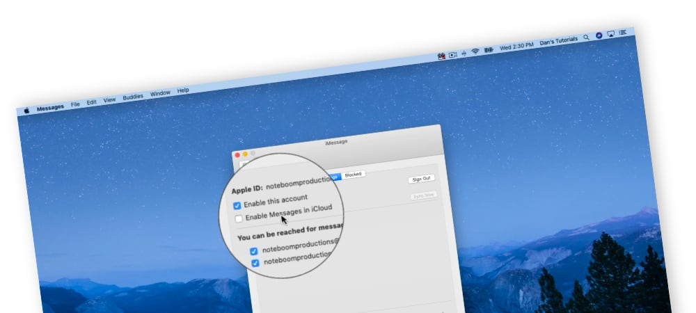 Syncing Messages on the Mac with iCloud