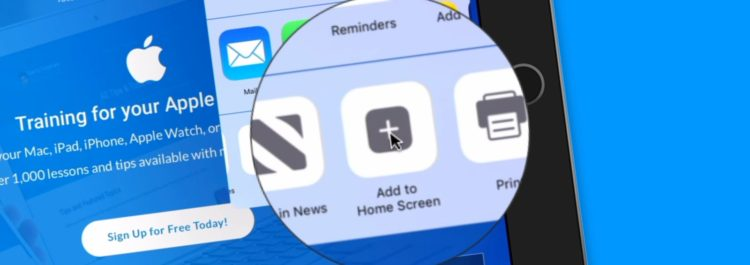 Add A Website to your Home Screen on the iPad