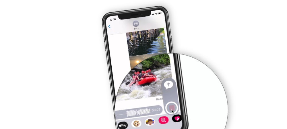 Sending Audio Clips in a Message on the iPhone
