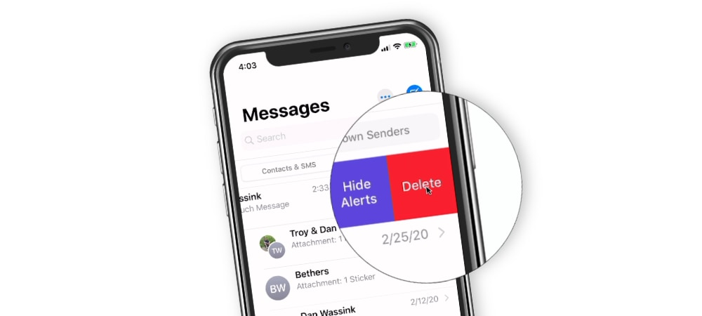 Deleting Messages and Conversations on the iPhone