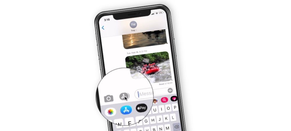 Managing iMessage Apps in Messages on the iPhone