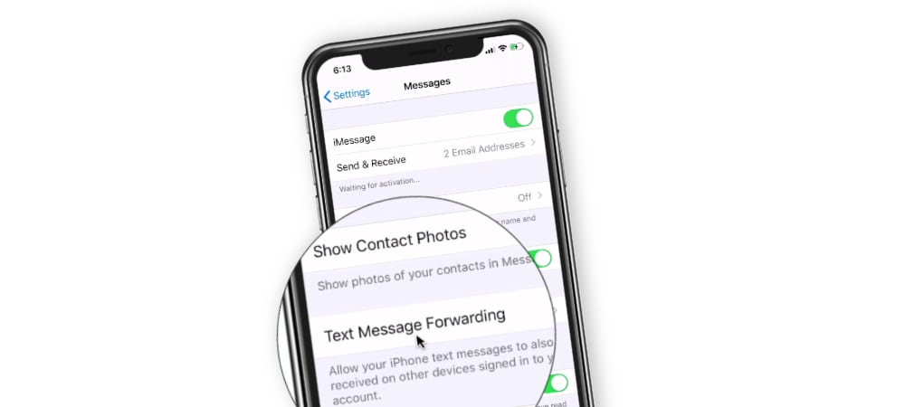 Text Message Forwarding on the iPhone