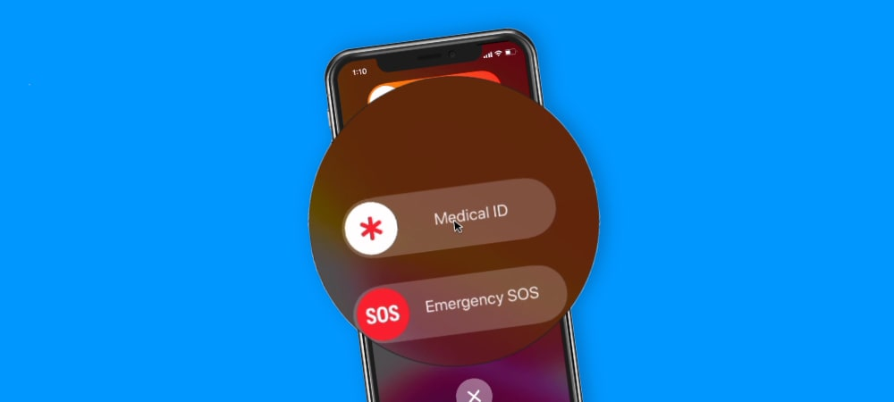Medical ID and Emergency SOS on an iPhone with Face ID