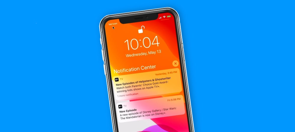Accessing the Notification nd Control Center on an iPhone with Face ID