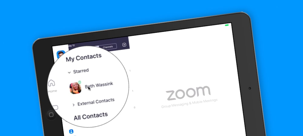 Managing Contacts in Zoom on the iPad