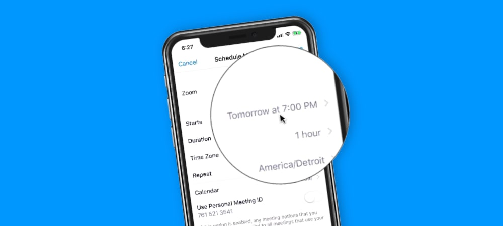 Scheduling Meetings with Zoom on the iPhone