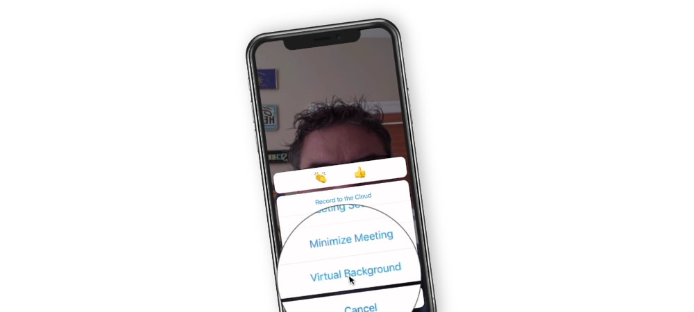 Adding a Virtual background to a Zoom Meeting on the iPhone