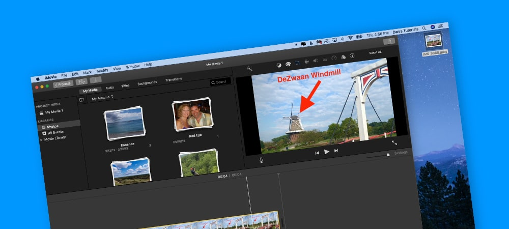 Marking Up a Photo in iMovie