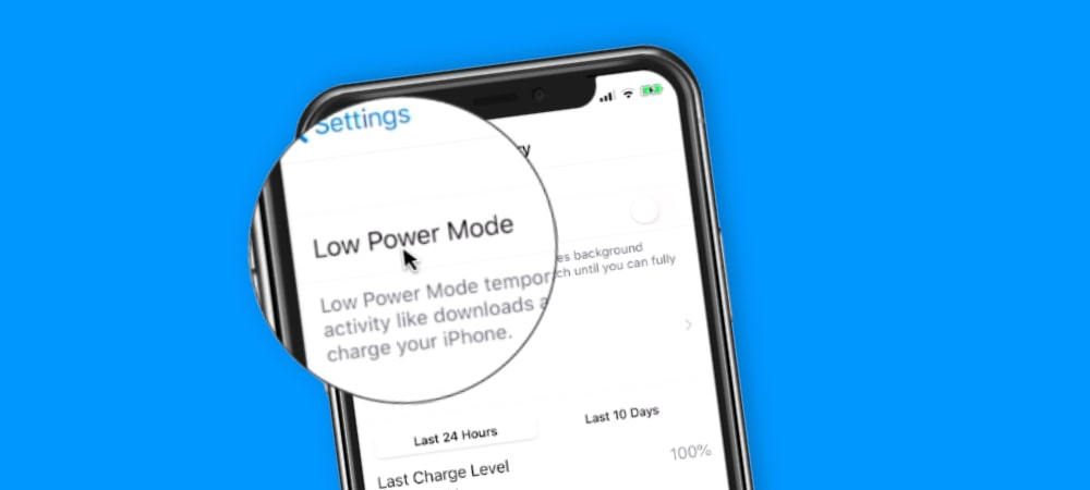 Low Power Mode on the iPhone
