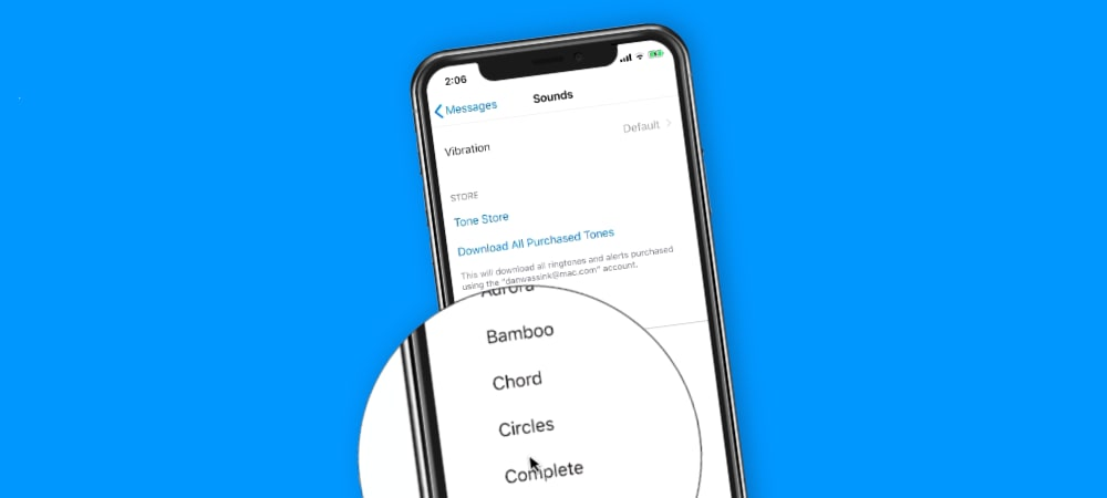 Change the notification sound on the iPhone