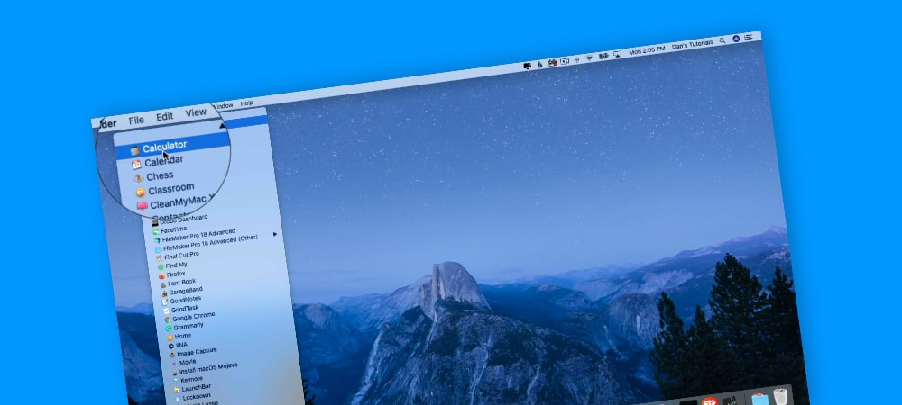 Open Apps through the Maunchpad Icon on the Mac