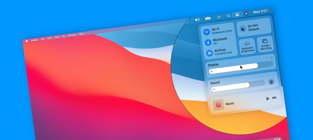 Learn about the Control Center introduced in macOS Big Sur