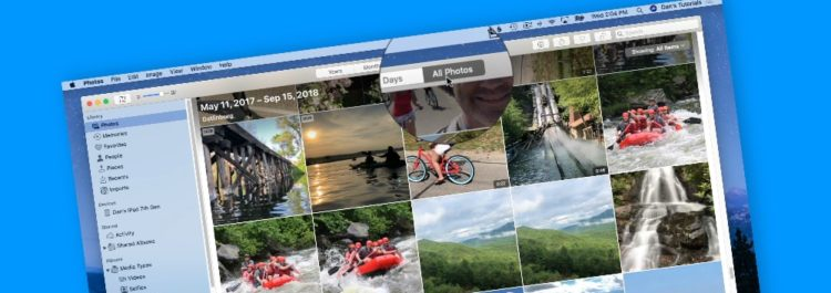 Learn about the Photos interface on the Mac