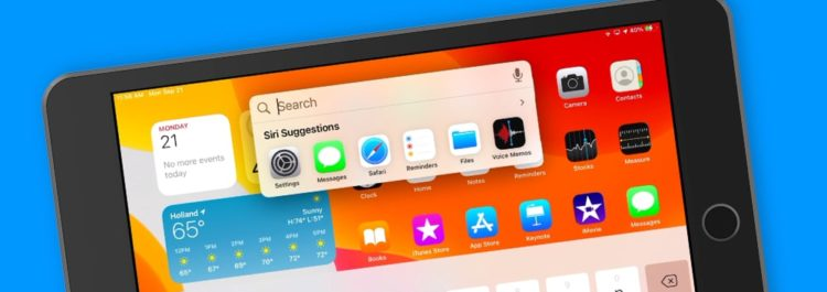 New Compact Search in iPadOS 14