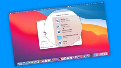 Manage Database Documents with Tap Forms 5 ont he Mac