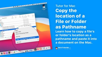 Copy the location of a File or Folder as Pathname on the Mac