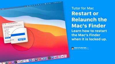 Restart or Relaunch the Mac's Finder