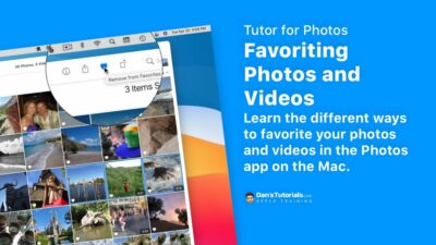 Favoriting Photos and Videos in Photos on the Mac