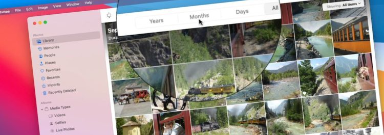 Viewing by Years, Months, Days, and All Photos on the Mac