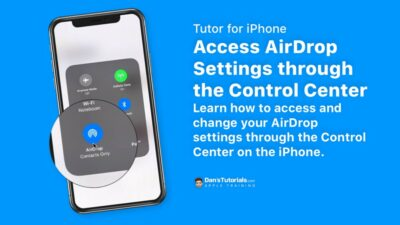 Access AirDrop Settings through the Control Center on the iPhone