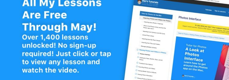 All My Lessons Are Free Through May!