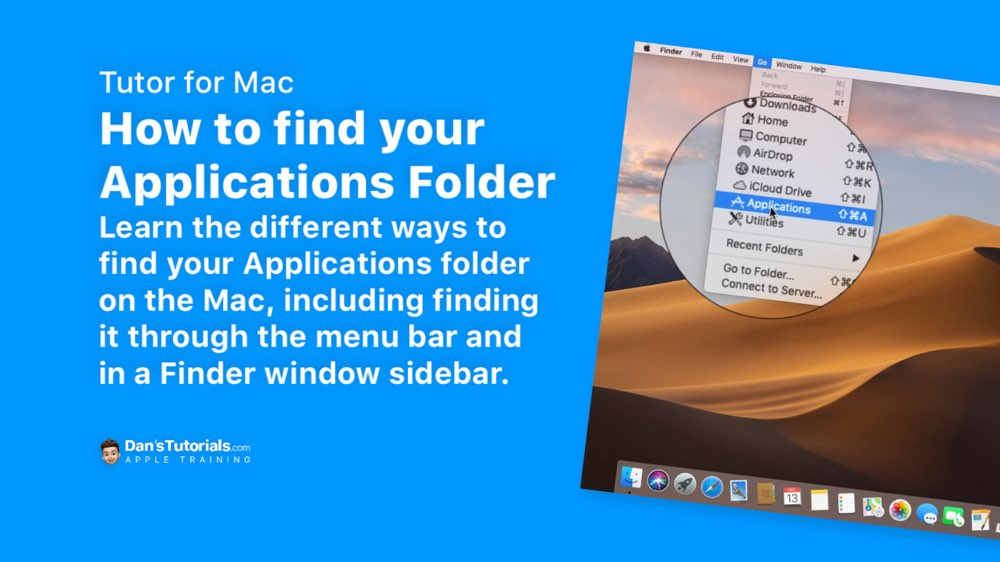 Finding your Applications Folder on the Mac