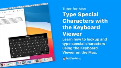 Type Special Characters with the Keyboard Viewer on the Mac