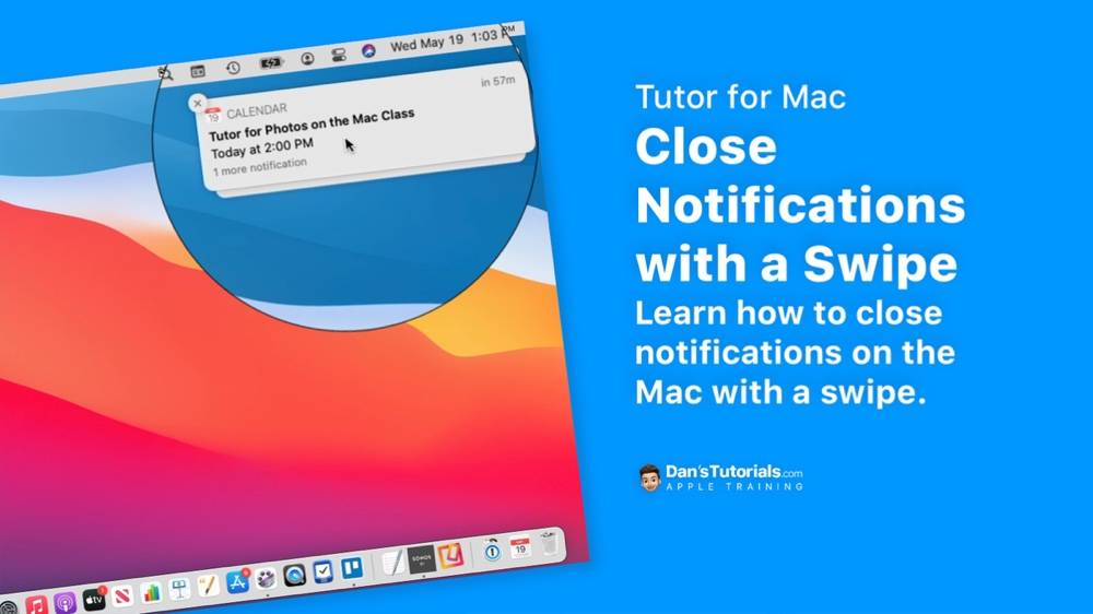 Close Notifications on the Mac with a Swipe