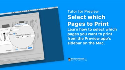 Select which Pages to Print in the Preview app on the Mac