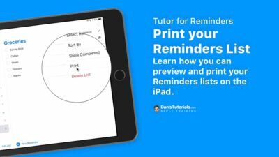 Print your reminders in the Reminders app on the iPad.
