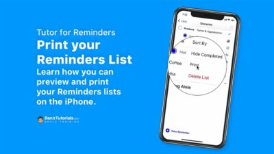 Print your Reminders List in Reminders on the iPhone