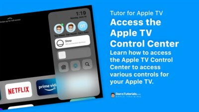 Access the Apple TV Control Center